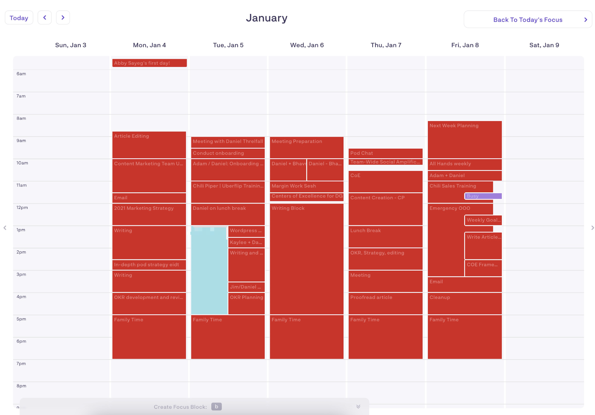 how to be more productive - calendaring